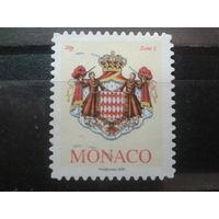 Монако 2009 гос. герб Михель-1,4 евро гаш