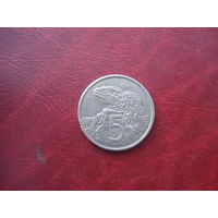 5 центов 1967 год Новая Зеландия
