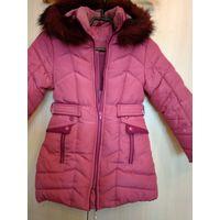 Куртка для девочки зимняя на 7-8 лет