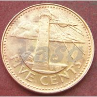 6460:  5 центов 1997 Барбадос