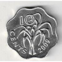 Свазиленд 10 цент 2009