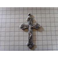 Крестики 6 шт. серебро латунь ляминь