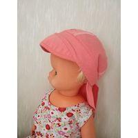 Бандана-панамка для девочки до 5 лет, защищает шею от солнца. Новая.