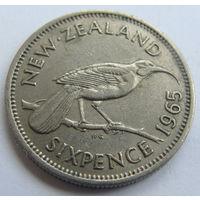 Новая Зеландия 6 пенсов 1965 г