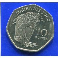 Маврикий 10 рупий 2000 UNC
