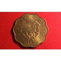 10 центов 1977. Танзания. Хорошая+нечастая!