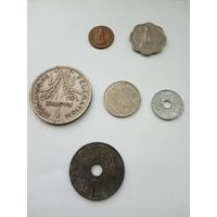 Монеты Индия и Индокитай разных лет одним лотом