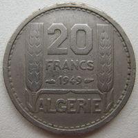 Алжир Французский 20 франков 1949 г. (u)