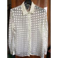 МОДА 90-х блуза 48-50 шампанское Эффектная нарядная