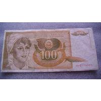Югославия. 100 динар 1990г.  распродажа