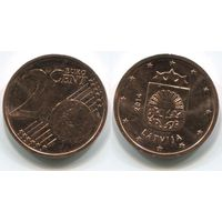 Латвия. 2 евроцента (2014, aUNC)