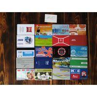 20 разных карт (дисконт,интернет,экспресс оплаты и др) лот 10