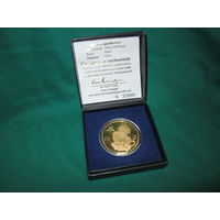 Медаль tiger beer gold coin 24 К 2004 с сертификатом.