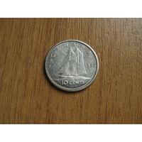 Канада 10 центов 1966 серебро