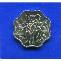 Свазиленд 10 центов 1998 UNC