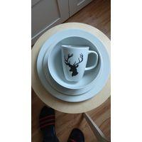 Набор столовой посуды 24 предмета ИКЕА ШАЛЕ