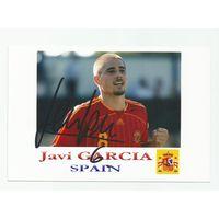 Javi Garcia(Испания). Фотография с живым автографом.