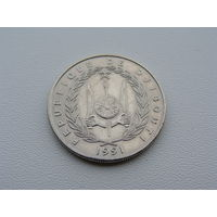 Джибути.  50 франков 1991 года КМ#25