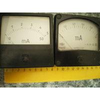 Микроамперметры, 8 х 8 см.