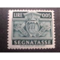 Сан-Марино 1945 доплатная марка, герб