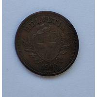 Швейцария 1 раппен, 1905 7-5-28
