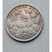 "Германия 1/2 марки, 1909 ""A"" - Берлин 7-10-23"