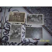 4 фотографии солдат 1945-1947 гг