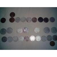 Монеты 15, 20, 2 копейки 1943-1981