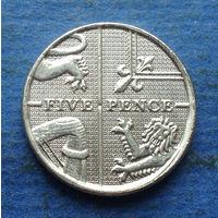 Великобритания 5 пенсов 2012