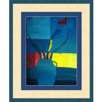 Картина  натюрморт с вазой