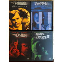 OMEN I-II-III-IV. Омен, Дэмиен, Последний конфликт, Пробуждение. DVD (1976-1978-1981-1991)