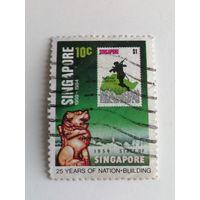 Сингапур 1984. 25 лет автономному государству - марки на марках