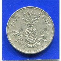 Багамские острова , Багамы 5 центов 1998