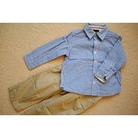 Набор брюки рубашка Next 18-24 месяца 86-92 см