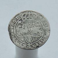 6 грошей 1665 Ян II Казимир Ваза