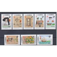[16] Гамбия 1988.Парусники,мореплаватели. 8 марок+ 2 блока.