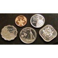Багамские острова 1, 5, 10, 25, 50 центов.