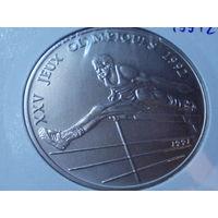 Конго 100 франков 1991 г.Олимпийские игры в Барселоне 1992.редкая.