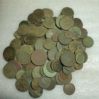 123шт немытых монет РИ на опыты с рубля.