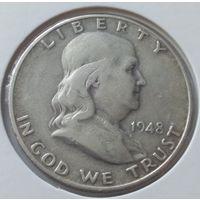 США 1/2 доллара 1948 года Серебро 0.900
