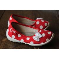 Матерчатые туфельки для девочки.