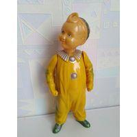 Старая редкая игрушка кукла клоун целлулоид ЗКБ