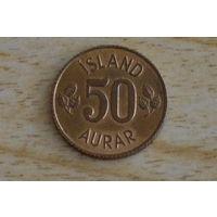 50 эйре 1971 Исландия КМ# 17 никелевая латунь