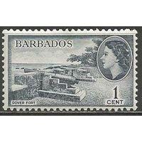 Барбадос. Королева Елизавета II. Форт Довер. 1953г. Mi#203.