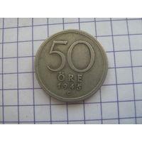 Швеция 50 оре 1945г. серебро km817