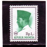 Индонезия. Mi:ID 528. Президент Сукарно (с надписью). 1966.