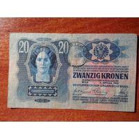 Румынская оккупация  австро-венгерской Буковины . 20 крон