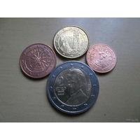 Набор евро монет Австрия 2014 г. (1, 2, 10 евроцентов, 2 евро)