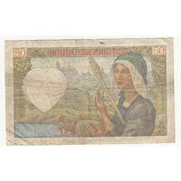 Франция 50 франков 1941 года