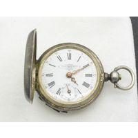 Часы карманные Georges Favre-Jacot Серебро Швейцария 19 век клейма не на ходу, с рубля